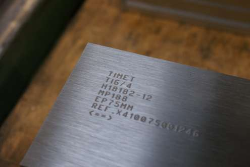Technomark Marking system applications Marking on titanium parts