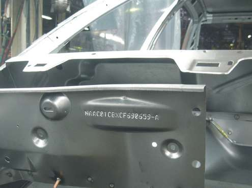 Technomark Marking system applications Marking on chassis and engines