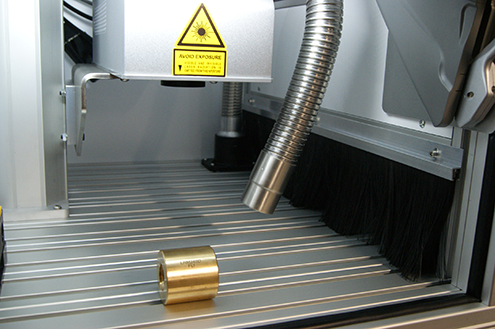 Technomark Marking system applications Laser marking on linear guide components
