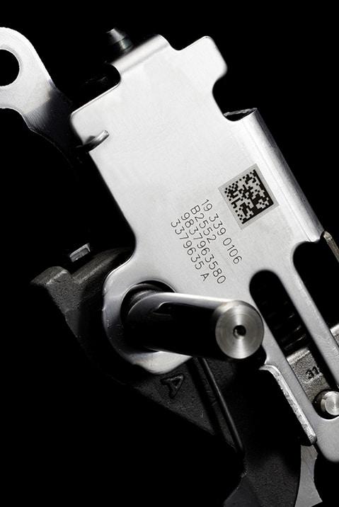 Datamatrix marking-laser-automotive