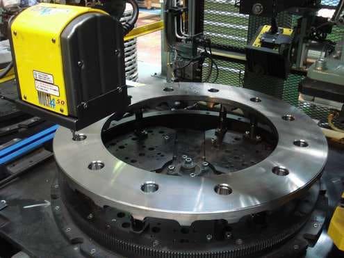 Solution Marking on brake disc for trains Technomark