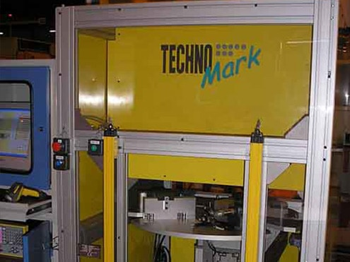 Solution Marking on aircraft jet blades Technomark