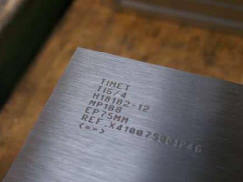 Solution Marquage sur pièces en titane Technomark