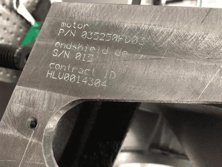 Solution Marquage sur des moteurs de métros Technomark