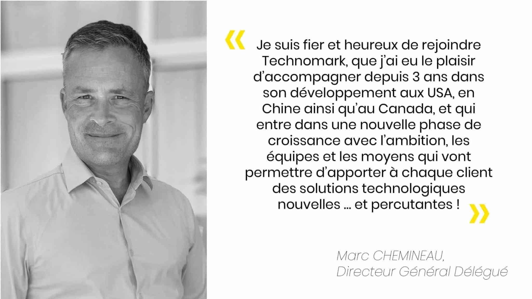 Arrivée de Marc Chemineau chez Technomark