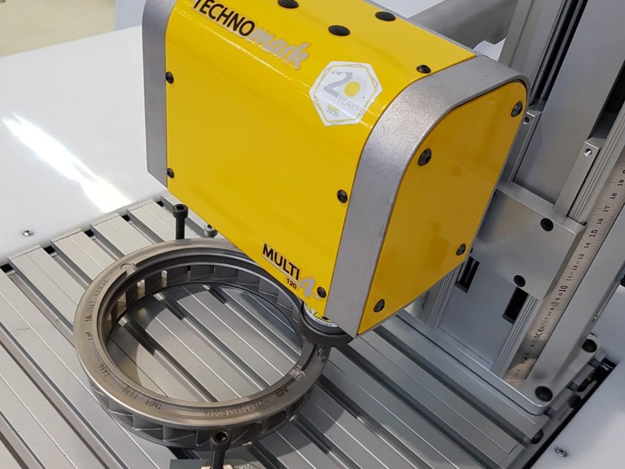 Solution Dot peen marking of turbochargers Technomark